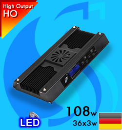 SunLEDKing (LED Lamp) Touch Screen T40-108w Reef (Suitable 16-24 inc)