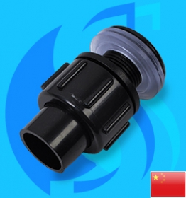 SeaSun (Accessory) Water Outlet Bulkhead 40415 25mm Hose (1 inc)