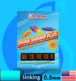 Ocean Nutrition (Food) Frozen Brine Shrimp Plus 100g (5get1)