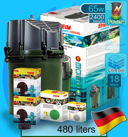 Eheim (Filter System) Classic 1500XL Set A (2260) (2400 L/hr)(65w)