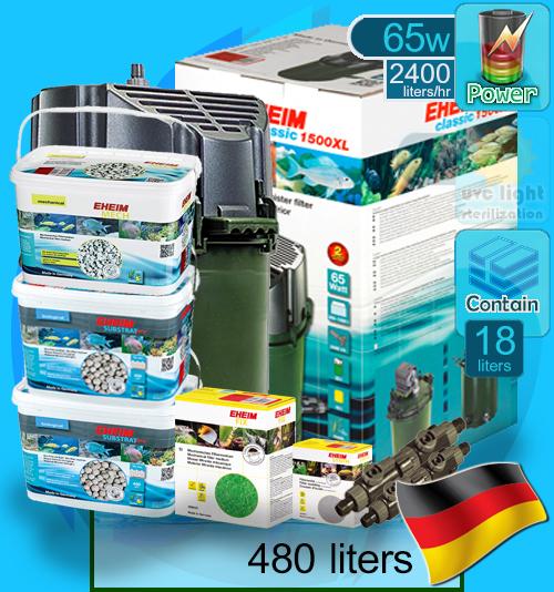 Eheim (Filter System) Classic 1500XL Set D (2260) (2400 L/hr)(65w)
