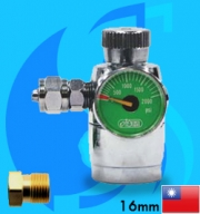 Ista (Co2 Regulator) Flow Regulator with One Pressure Meter I-584 (G5/8 Type)
