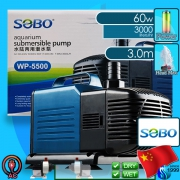 Sobo (Water Pump) Submersible Pump WP-5500 (3000 L/hr)(60w)(H 3m)