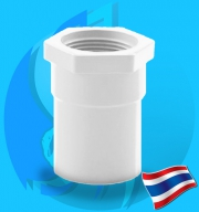 """Thaipipe (Accessories) White PVC Female Straight Joint TS40 38mm (1 1/2"""")"""