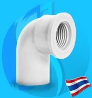 """Thaipipe (Accessories) White PVC Female 90 Degree Joint TS18 12mm (1/2"""")"""
