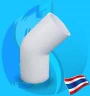"""Thaipipe (Accessories) White PVC 45 Degree Joint TS18 12mm (1/2"""")"""