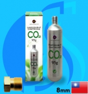 Up Aqua (Co2 Cylinder) Disposable Cartridge 135ml (3/8UNF Type)