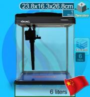 Xilong (Aquarium Tank) Curve Corner Tank XQ-230A Black (23x16x26cm)