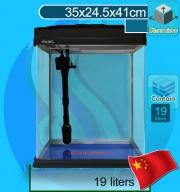 Xilong (Aquarium Tank) Curve Corner Tank XQ-320A Black (35x24x41cm)