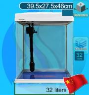 Xilong (Aquarium Tank) Curve Corner Tank XQ-380A White (40x28x46cm)