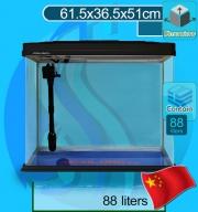 Xilong (Aquarium Tank) Curve Corner Tank XQ-620A Black (62x37x51cm)